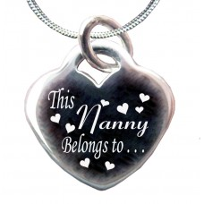 Silver This Nanny belongs to Necklace