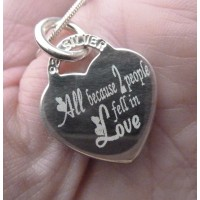 All because 2 people fell in Love Necklace