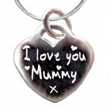 I Love You Mummy Personalised Silver Necklace