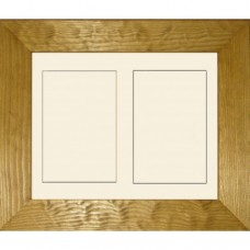 Flat Pine Double Aperture Medium Box Frame only