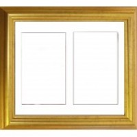 Gold Double Aperture Medium size Box Frame - Frame Only