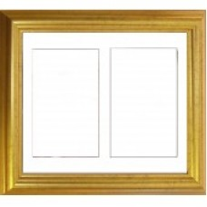 Gold Double Aperture Medium size Box Frame Only