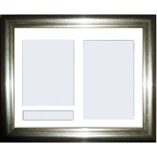 Silver Medium Frame Only with Name Space Mount