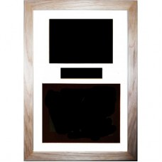 Black White Solid Oak BOX FRAME ONLY