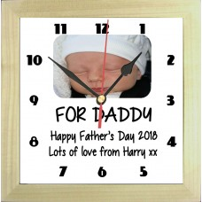 Happy Fathers Day Personalised Photo Clock