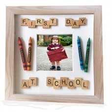 First Day at School Hand Crafted Photo Frame