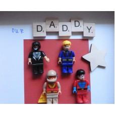 Dad Hero Scrabble Frame
