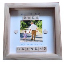 Only the Best Dads Scrabble Frame