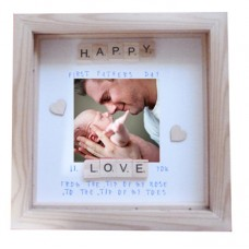 First Fathers Day Scrabble Frame