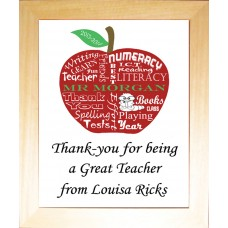 Apple for Teacher Framed Print