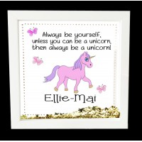 Unicorn Personalised Box Frame