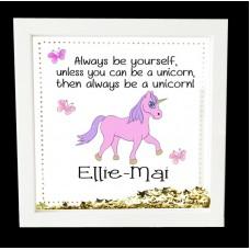 Unicorn Personalised Box Frame
