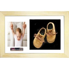 Baby's First Shoes Photo Deep Box Frame