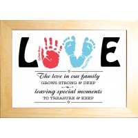 Hand Print Foot Print Art LOVE