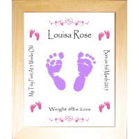 Hand Foot Print Art Birth Details
