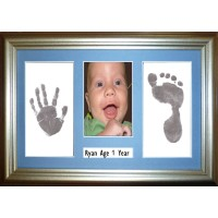 Inkless Wipe Silver Framed Kit with Name Space