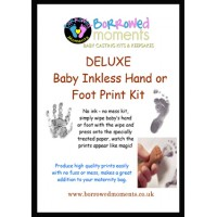 Basic Inkless Wipe Handprint Footprint Kit. Mess Free Prints