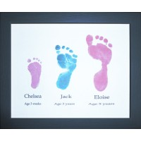 Siblings Hand or Footprints Keepsake Service