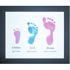 Siblings Hand or Footprints Keepsake Service