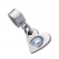 Fine Silver Fingerprint Charm Pandora Style fitting