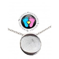 A FINE SILVER Fingerprint Nugget Necklace