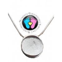 A FINE SILVER Fingerprint Nugget Necklace