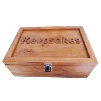 Solid Wood Memory Keepsake Box Oak Effect Varnish