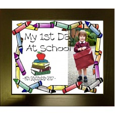 1st Day at School Personalised Photo Frame