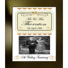 Wedding or Anniversary Personalised Photo Keepsake
