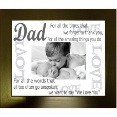 Dad Love Personalised Photo Frame