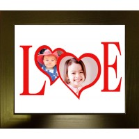 Love Hearts Personalised Photo Frame