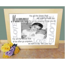 Love Mummy Personalised Photo Frame