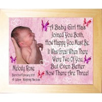 Personalised Photo Frame - A Baby Girl