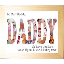 Personalised Photo Collage Frame DADDY