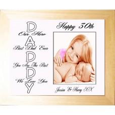 Personalised Framed Photo Luxury Keepsake - Daddy