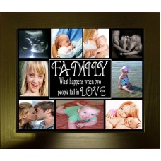 Family When Two People Fall in Love - Personalised Photo Collage