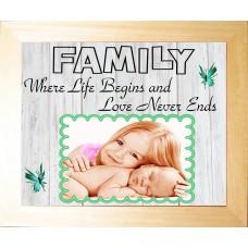 Personalised Photo Frame Keepsake Family