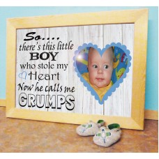 Personalised Baby Photo Luxury - Calls me GRANDAD