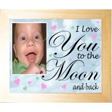 Personalised Photo Keepsake I Love You to the Moon