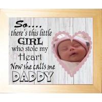 Personalised Baby Photo Luxury Keepsake - Calls me Daddy