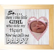 Personalised Baby Photo Luxury Keepsake - Calls me Daddy