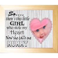 Personalised Baby Photo Luxury Keepsake - Calls me Mummy