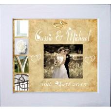 Wedding LOVE Personalised Photo Keepsake