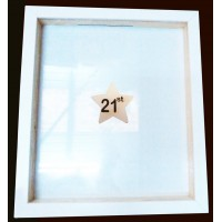 Wooden Stars Guest Book Drop Frame