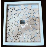 Drop Top Engraved Heart Wedding Guest Book