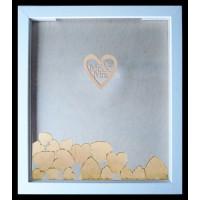 Mr and Mrs Wedding Drop Frame alternative Guest Book