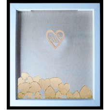 Mr and Mrs Wedding Drop Frame alternative Guest Book