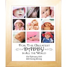 Greatest Daddy Personalised Photo Collage Frame