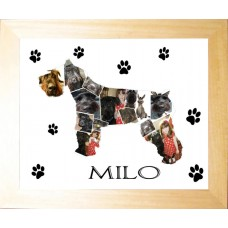 Dog Personalised Photo Collage Print (any breed)