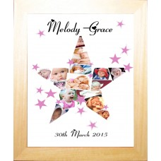 Star Personalised Photo Collage Print
